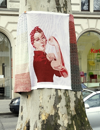 "Yarn Bombing ""Rosie"""