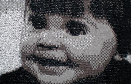 Kinderfoto als Strickportrait
