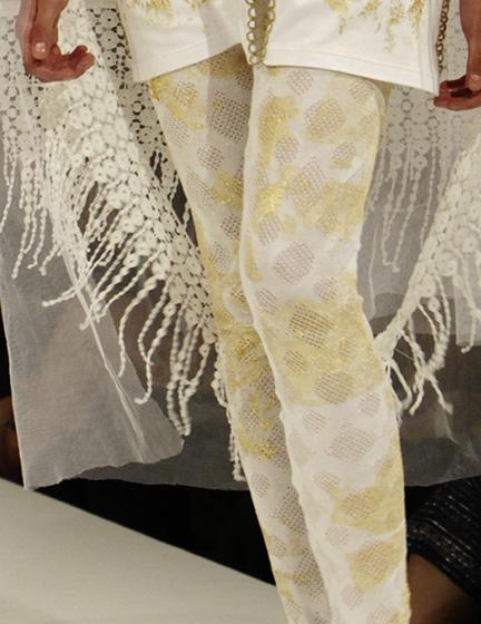 Vergoldete Leggings | Luciano Raimondi